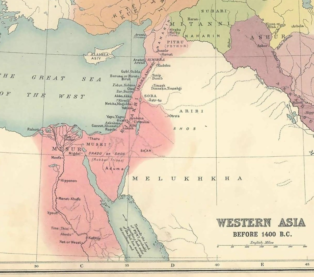 The AlephTav Project Torah Portion Masei - Map of egypt before christ