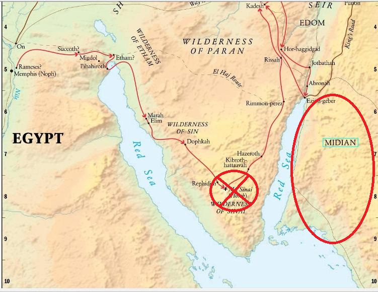The AlephTav Project Torah Portion Yithro - Map of egypt moses